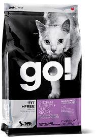 GO! Solutions גו חתול גורים ובוגרים עוף, הודו וברווז פיט + פרי