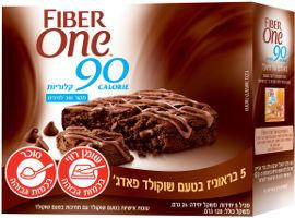 פייבר וואן עוגיות אישיות בטעם שוקולד עם חתיכות בטעם שוקולד