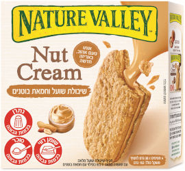 נייטשר וואלי חטיף שיבולת שועל מלאה עם שעורה מלאה ודבש במילוי עם חמאת בוטנים