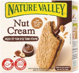 נייטשר וואלי חטיף שיבולת שועל מלאה עם שעורה מלאה במילוי קרם אגוזי לוז וקקאו