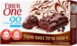 פייבר וואן עוגות טריפל בטעם שוקולד