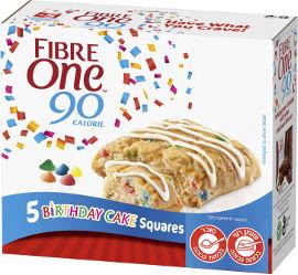 פייבר וואן עוגות יום הולדת אישיות בטעם וניל עם פצפוצים צבעוניים