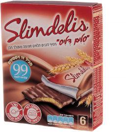 סלים דליס חטיף דגנים מלאים מצופה שוקולד חלב
