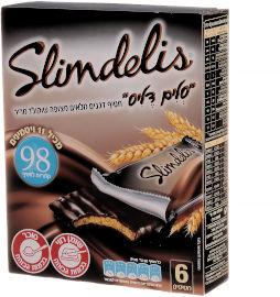 סלים דליס חטיף דגנים מלאים מצופה שוקולד מריר