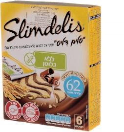 סלים דליס מרבה סלים דליס ללא גלוטן עם שוקולד חלב*6