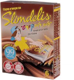 סלים דליס קידס חטיף דגנים מצופה שוקולד חלב