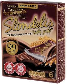 סלים דליס חטיף דגנים מצופה שוקולד חלב מהדורה מיוחדת אקסטרא שוקולד