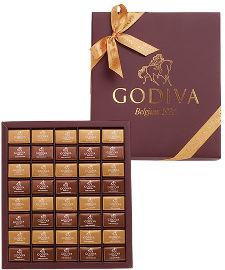 GODIVA אריזת שי Godiva milk &dark napolitana