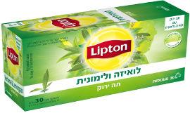 ליפטון תה ירוק עם לואיזה ולימונית