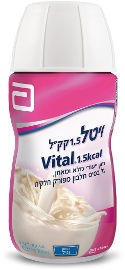 """אבוט תזונה ויטל 1.5 קק""""ל- מזון ייעודי מלא ומאוזן על בסיס חלבון מפורק חלקית בטעם וניל"""