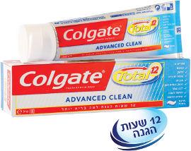 קולגייט טוטל משחת שיניים אדבנס קלין