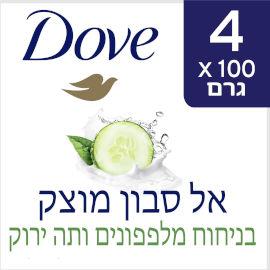 דאב אל סבון מוצק מכיל 25% לחות בניחוח מלפפונים ותה ירוק