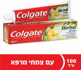 קולגייט משחת שיניים להלבנה הרבל צמחי מרפא