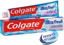 קולגייט מקס פרש אינטנס פואם משחת שיניים