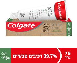 קולגייט משחת שיניים טבעית 99.7% סמייל פור גוד הגנה