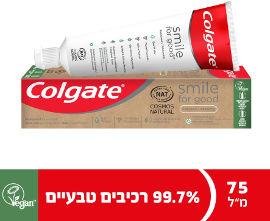 קולגייט משחת שיניים טבעית 99.7% סמייל פור גוד whitening
