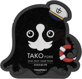 TONYMOLY TAKO PORE מדבקה לניקוי ראשים שחורים