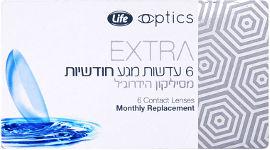 לייף EXTRA עדשות מגע חודשיות סיליקון הידרוג'ל  1.75-