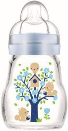 מאם בקבוק זכוכית בטוח ועמיד בפני שינוי טמפרטורה תכלת