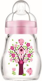 מאם בקבוק זכוכית בטוח ועמיד בפני שינוי טמפרטורה ורוד
