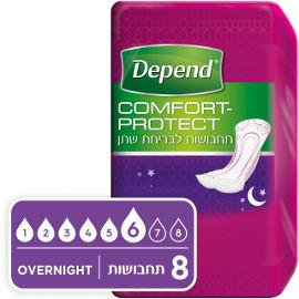 דיפנד Comfort-protect תחבושות לבריחת שתן בלילה