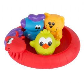 PlayGro צעצוע אמבטיה סירה עם 3 חיות