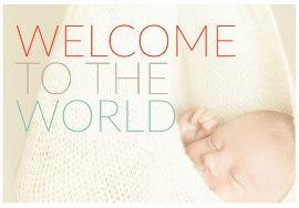 כרטיס ברכה עיצוב יולדות סוג תינוק