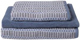 Intohome מארז מגבות אמבט - כחול